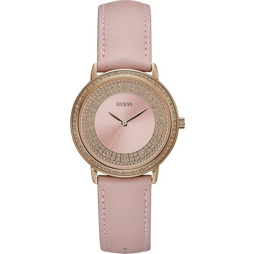 Montre femme guess exclusive sparkling pink w0032l7